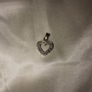 Beautiful gold heart shaped necklace charm